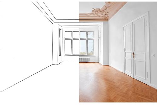 2D Floor Plan Into A 3D Plan